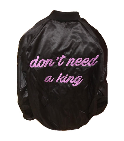 'Don't Need a King' Bomber Jacket