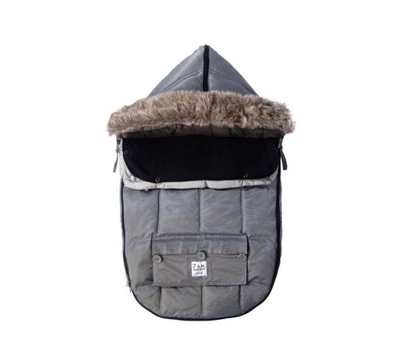 7 AM LE SAC IGLOO Small Gray Baby Bunting