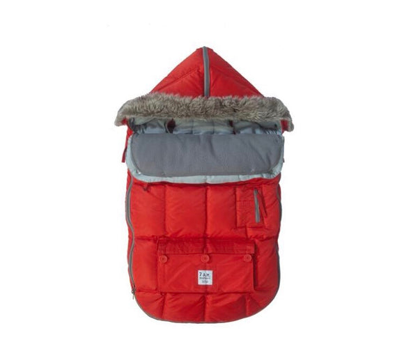 7 AM LE SAC IGLOO Small Red Baby Bunting