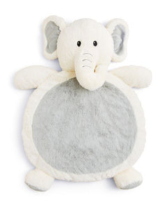 White And Grey Elephant Baby Mat