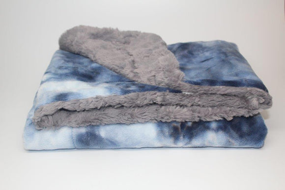 Zandino Ethan Navy and Grey Blanket