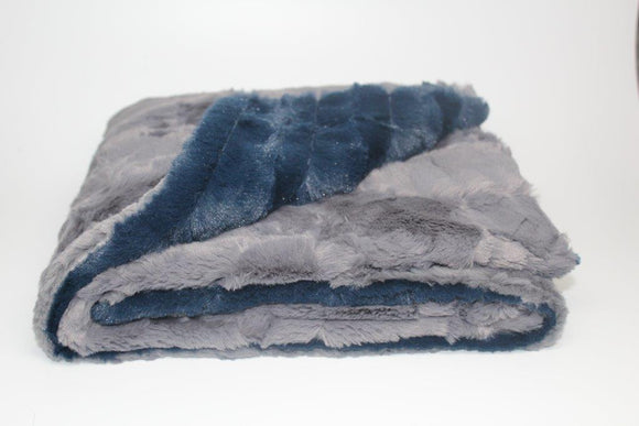 Zandino Sophia Charcoal and Navy Blanket