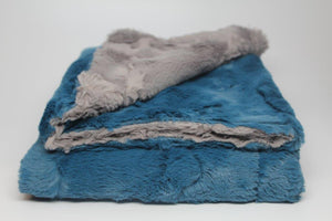 Zandino Sophia Stone and Blue Blanket