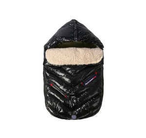 7 AM POLAR IGLOO Small Black Baby Bunting