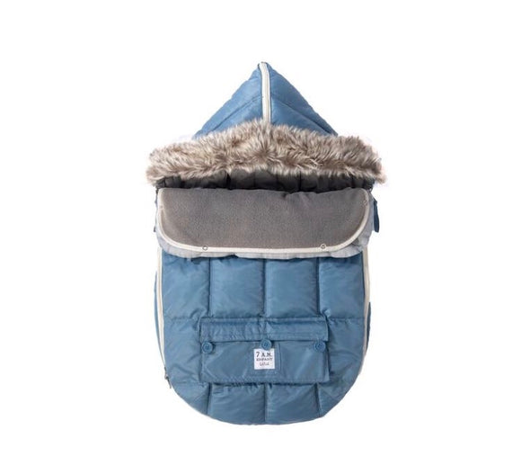 7 AM LE SAC IGLOO Small Denim Baby Bunting