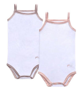 Petit Claire Baby Girl Sleeveless Undershirt Set of Two