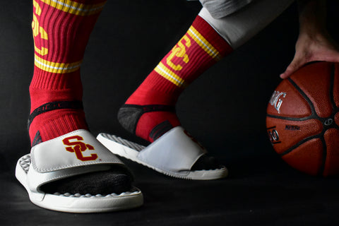 USC California Los Angeles Slide Sandals Trojans Football Basketball