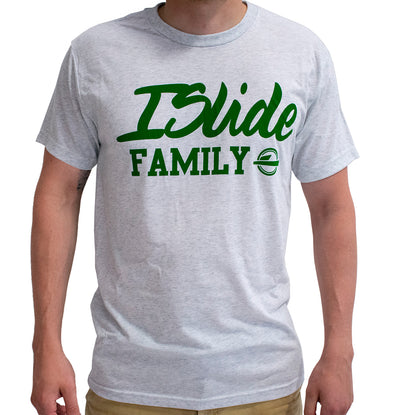 ISlide Family T-Shirt Grey/Green