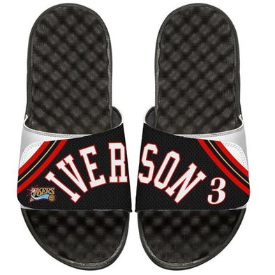 NBA 76ers Allen Iverson #3 Custom Slide Sandals - ISlide