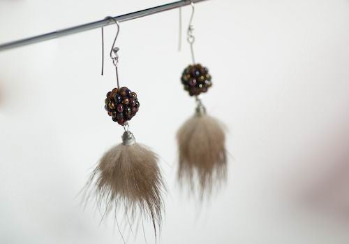 Black cherries earrings