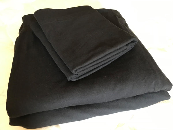 Queen Bed Sheet Set Black