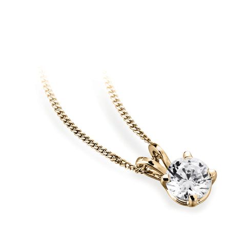 Four Claw Set Diamond Pendant