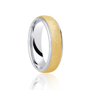 Two Tone Textured Ring