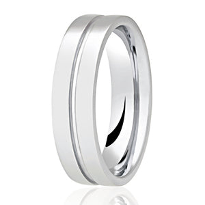 Centre Groove Patterned Ring