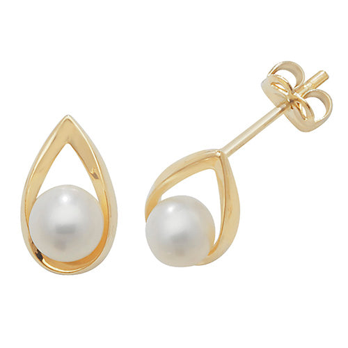 Outline Pearl Stud Earrings