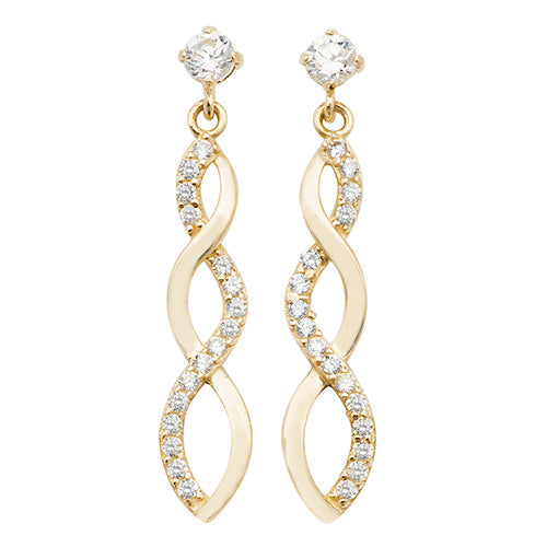 Cubic Zirconia Dropper Earrings