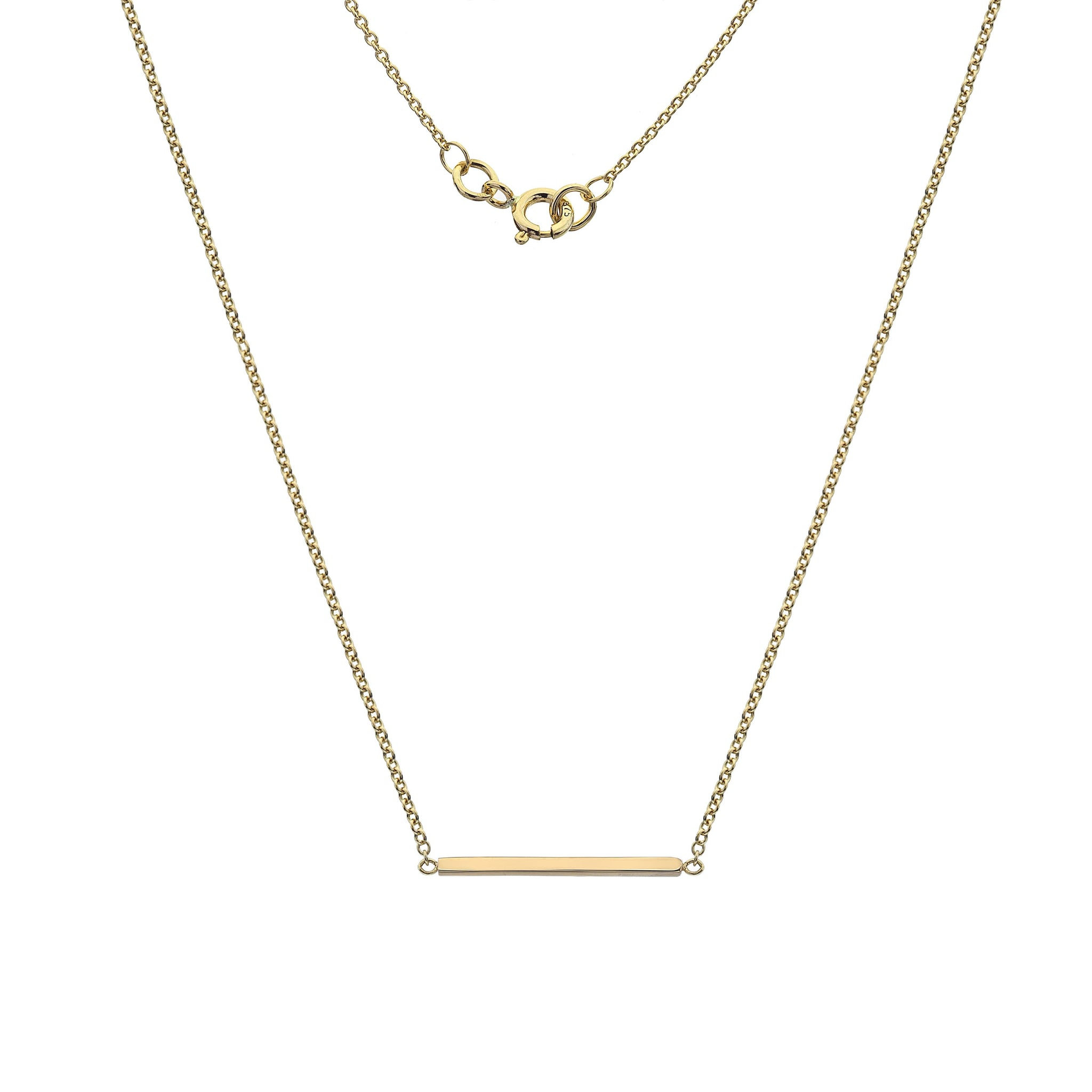 Flat Bar Necklace