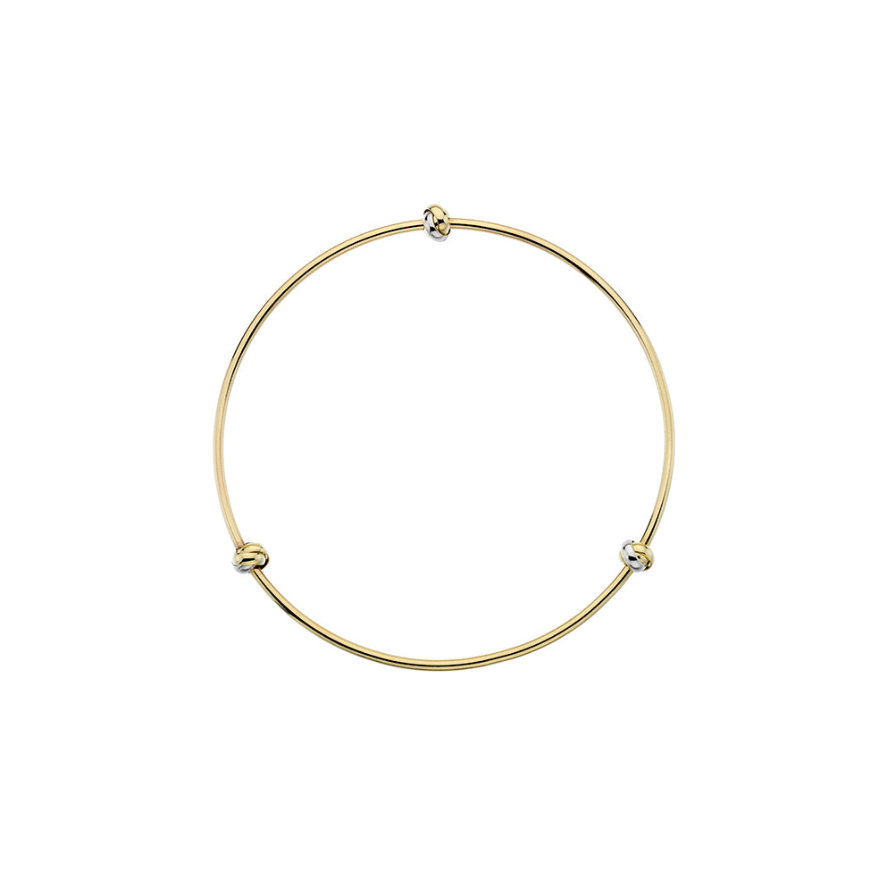 Two Tone Knot Bangle