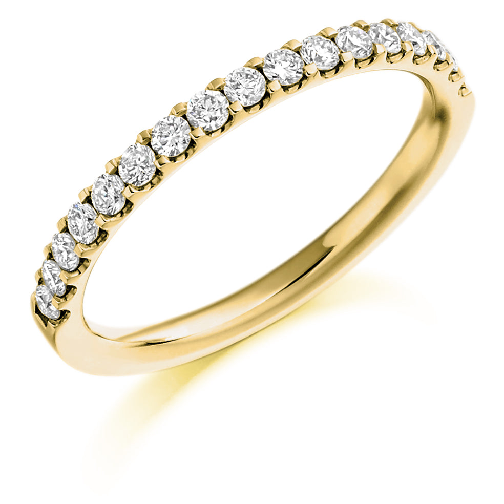 Micro-Claw Set Round Diamond Ring