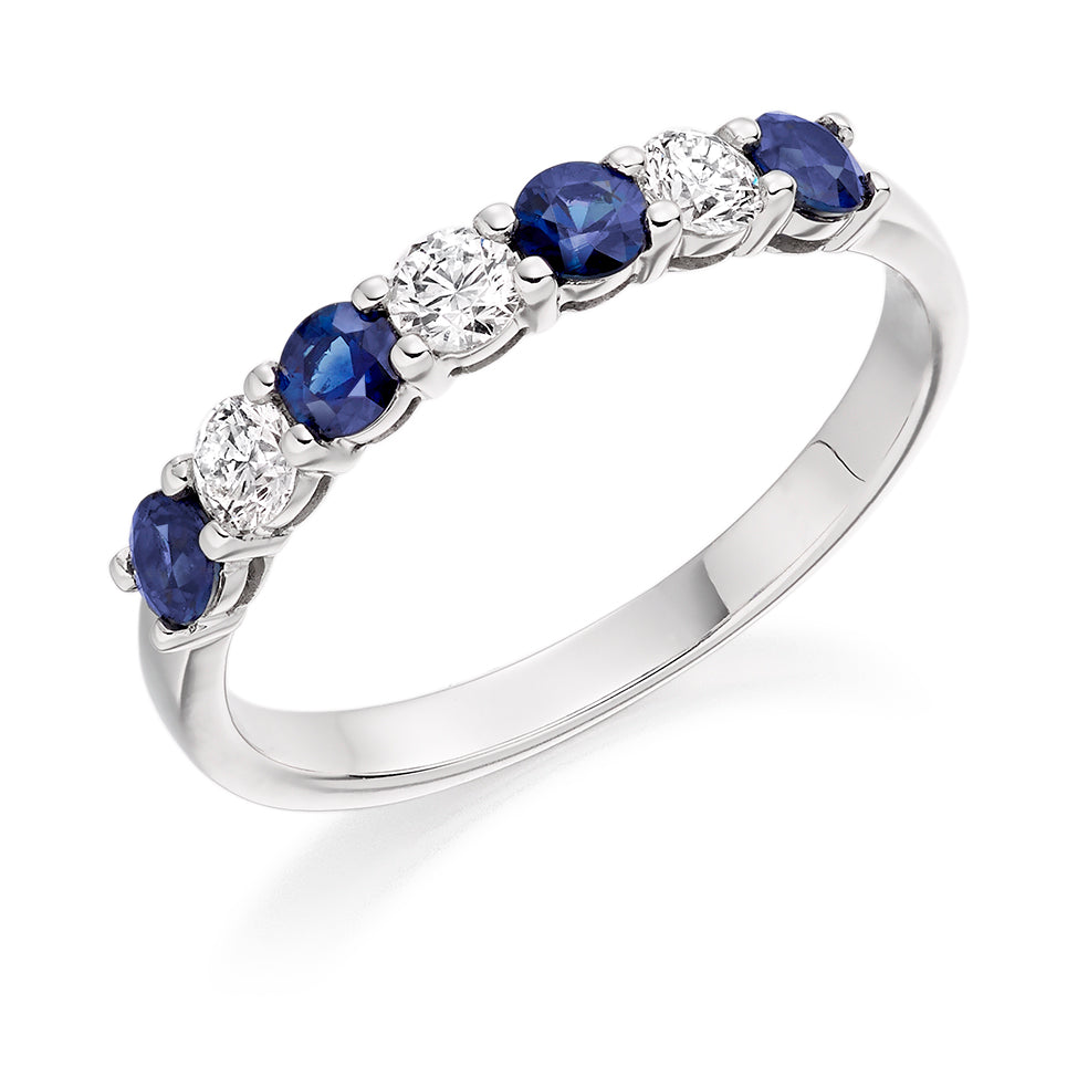 Claw Set Sapphire and Diamond Ring