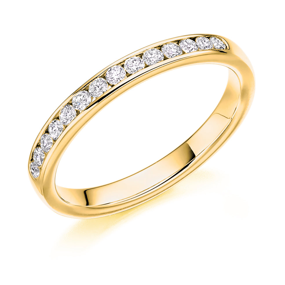 Channel Set Round Diamond Ring