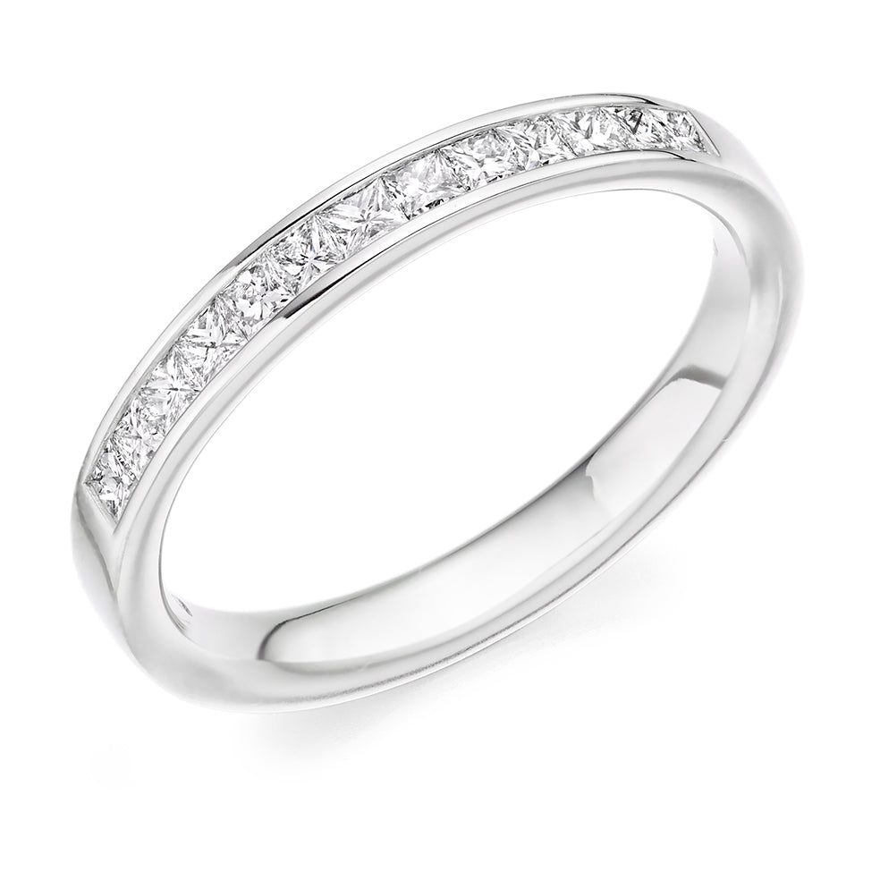 Channel Set Princess Diamond Ring