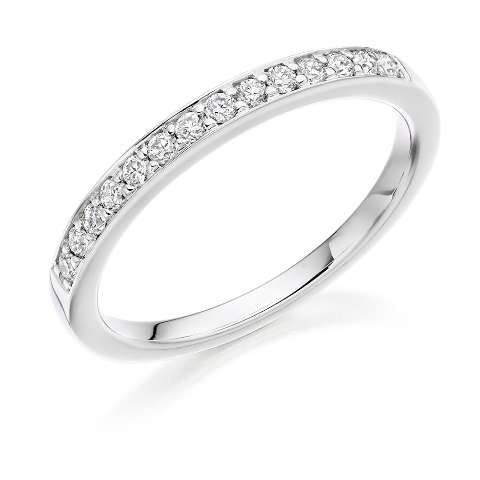 Grain Set Round Diamond Ring