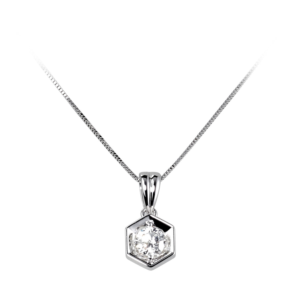 Diamond Hexagon Pendant