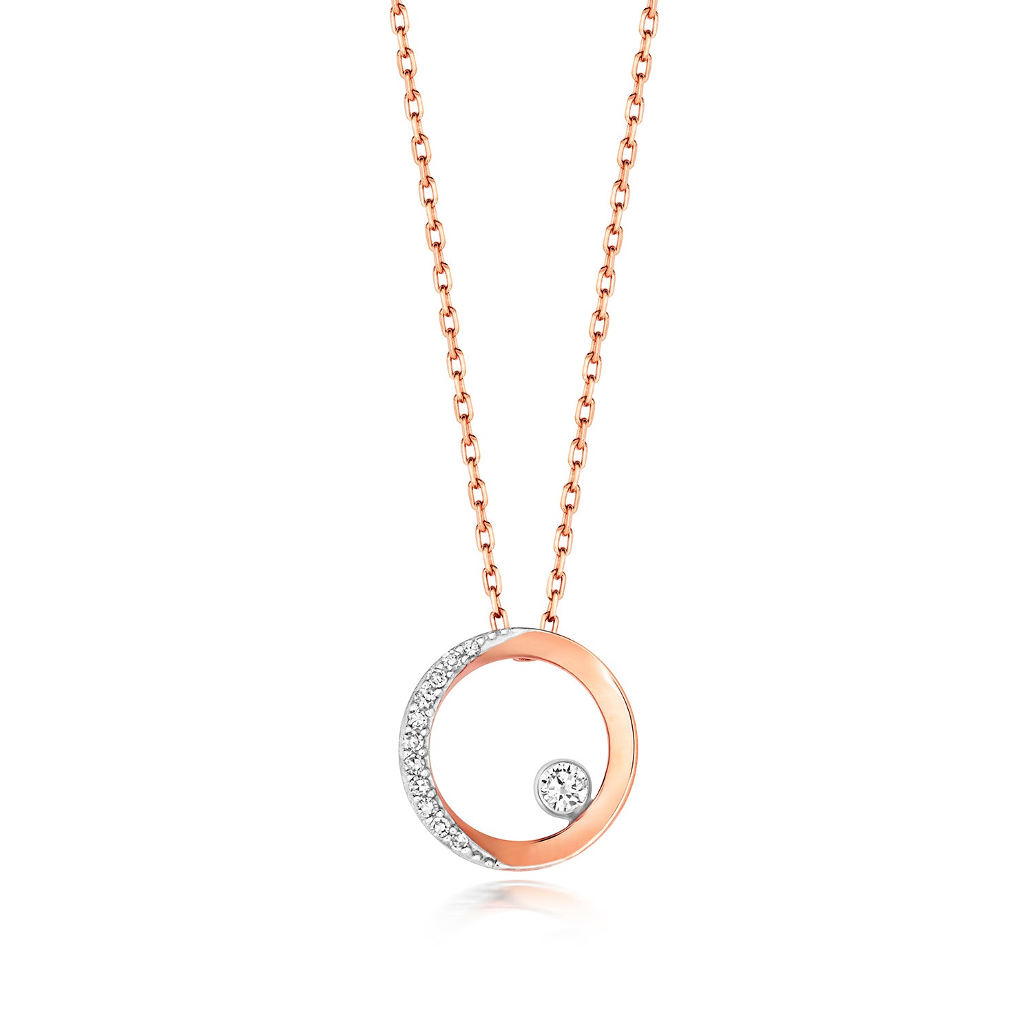 Diamond Circle Necklace
