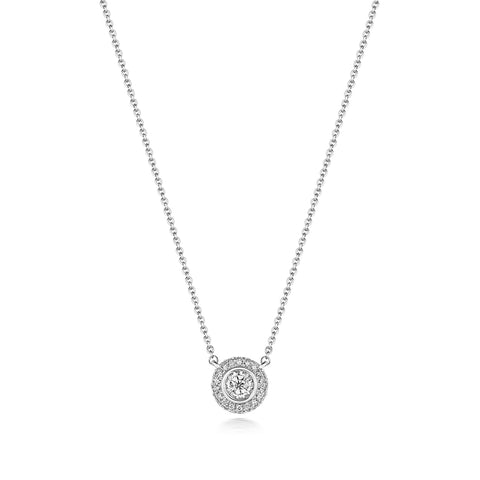 Diamond Illusion Halo Necklace