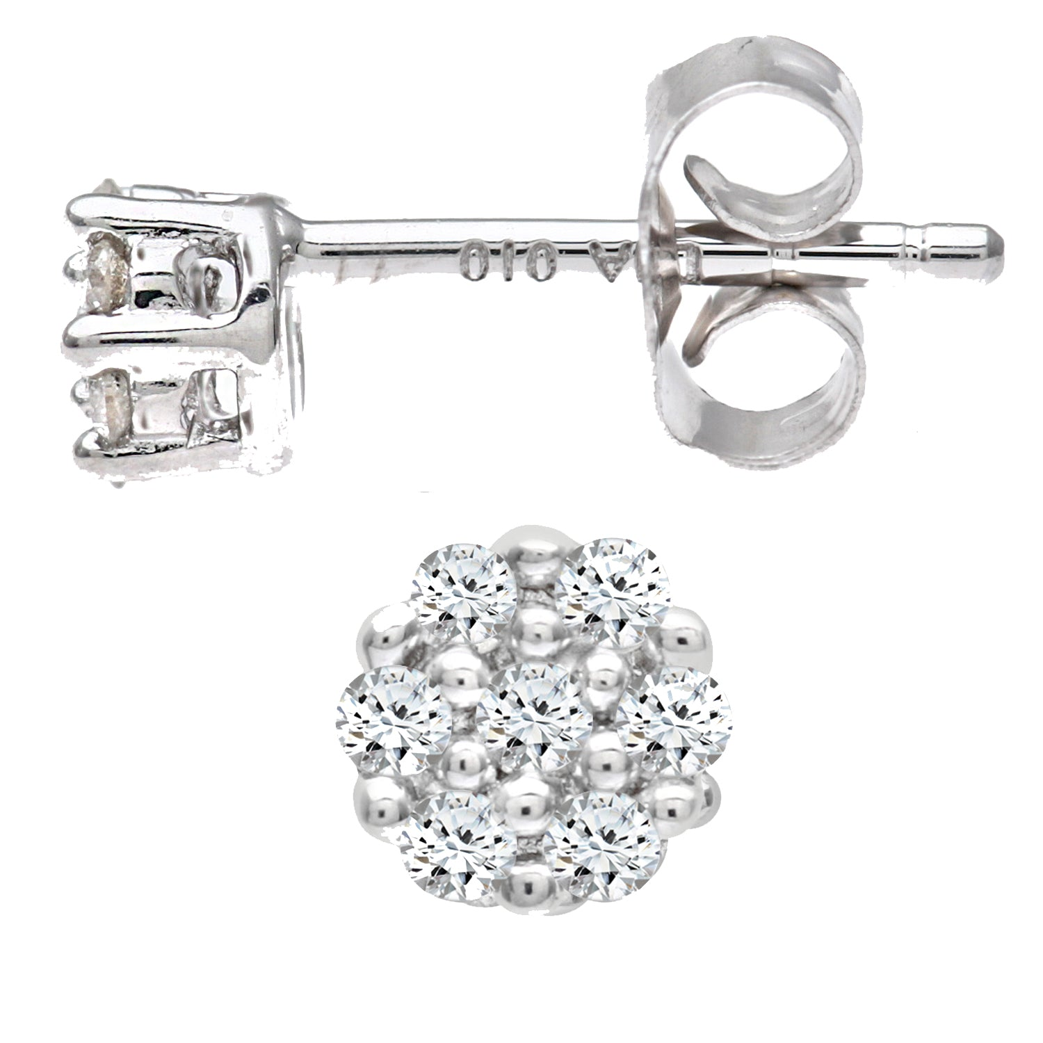 Simplicity Round Shaped Diamond Cluster Stud