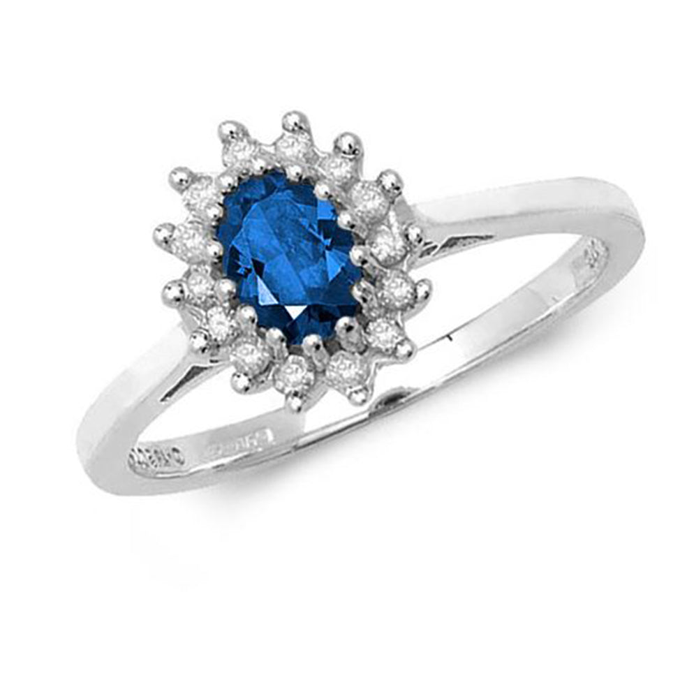 Oval Sapphire Cluster Ring