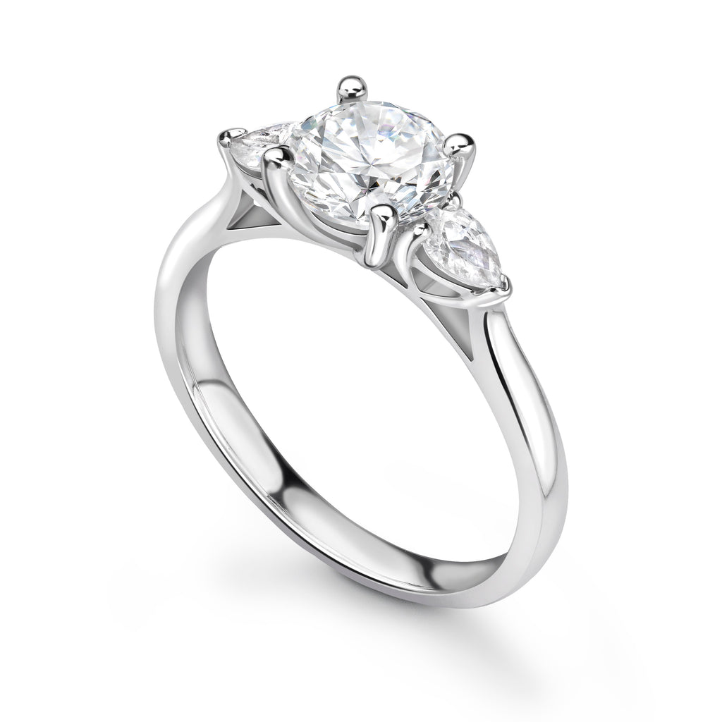 Acacia Trilogy Engagement Ring