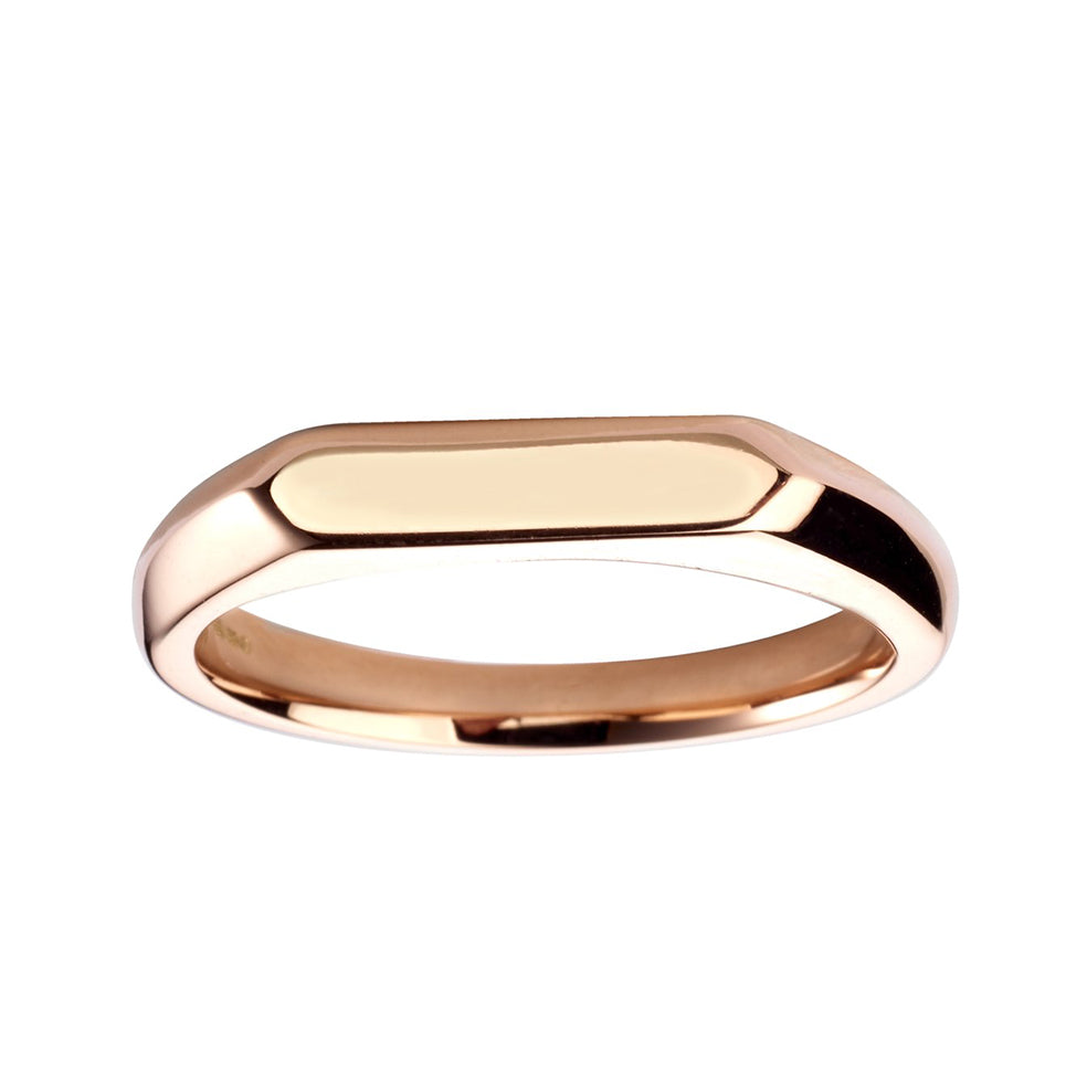 Thin Angled Signet Ring