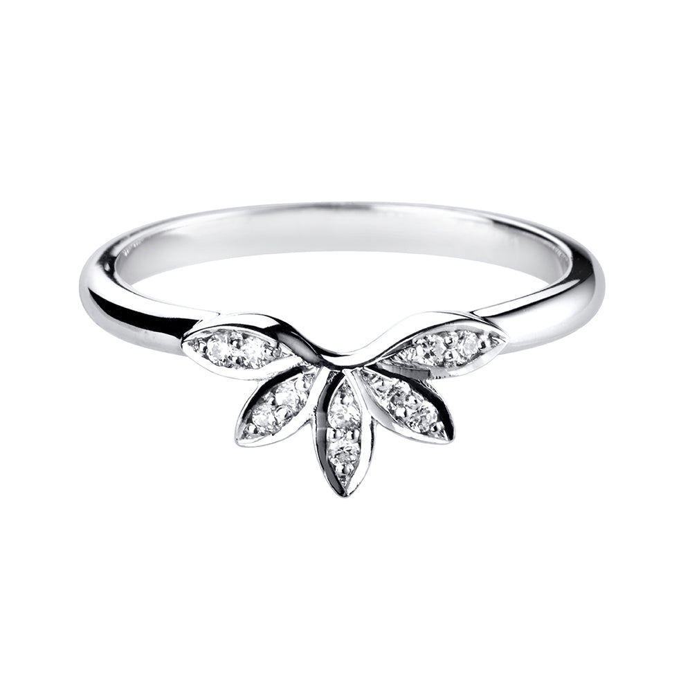 Floral Shaped Diamond Ring