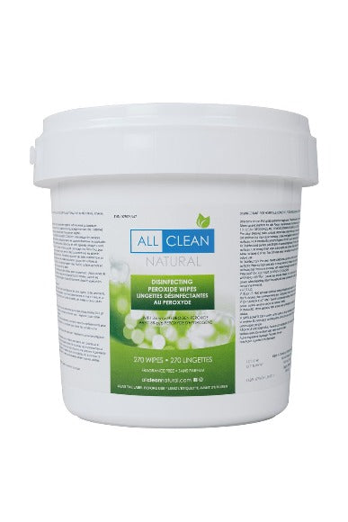 All Clean Natural Disinfecting Wipes 270 Count Bucket