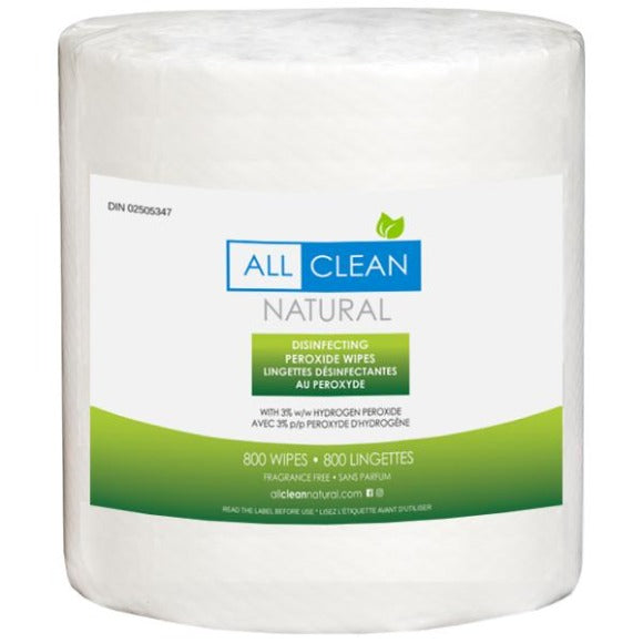 All Clean Natural Disinfecting Wipes 800 count roll