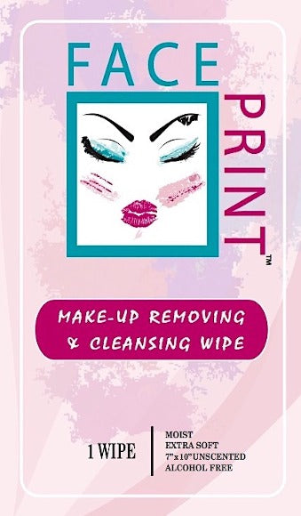 Face Print Make Up Removing Wipe- 24 Individual Wipes