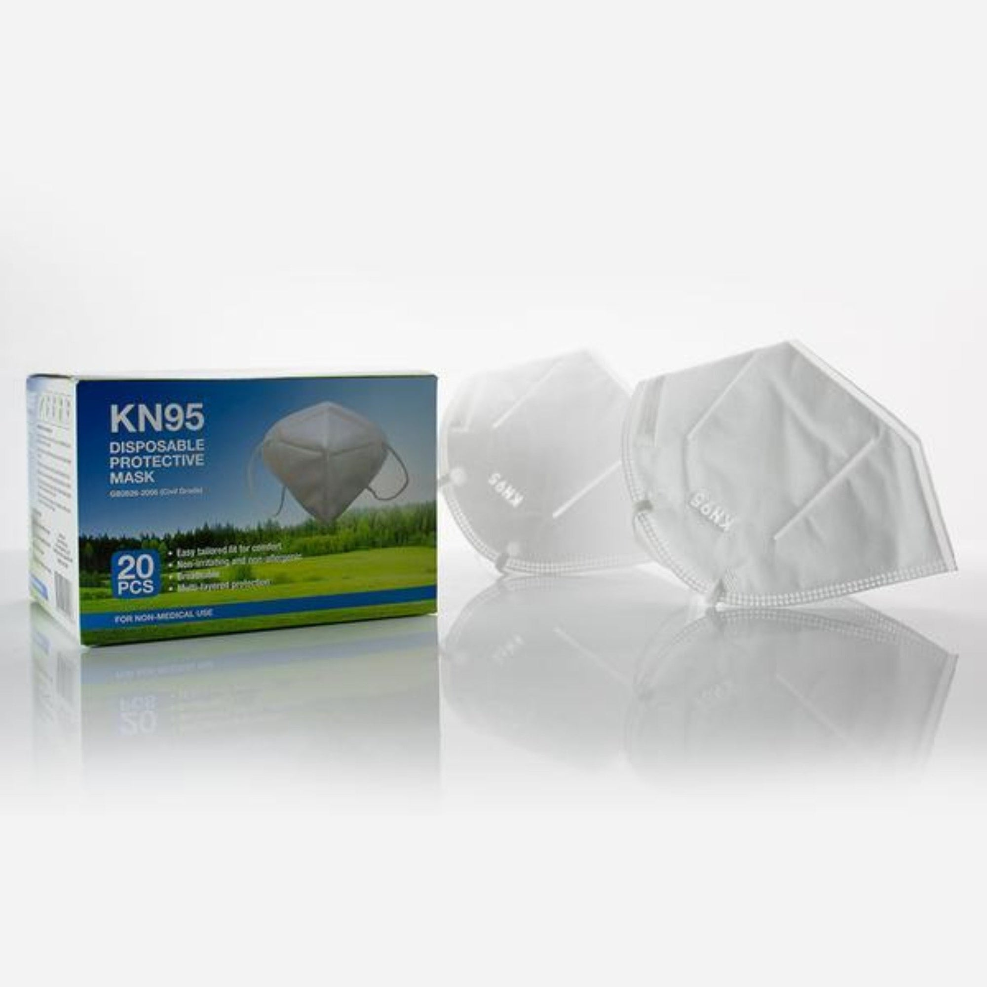 20 Pack KN95 DISPOSABLE PROTECTIVE MASK