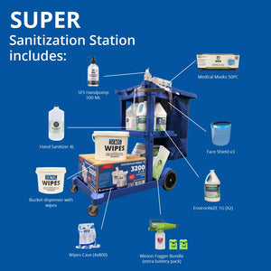 Roxton Super Sanitization Station - Mobile Cart