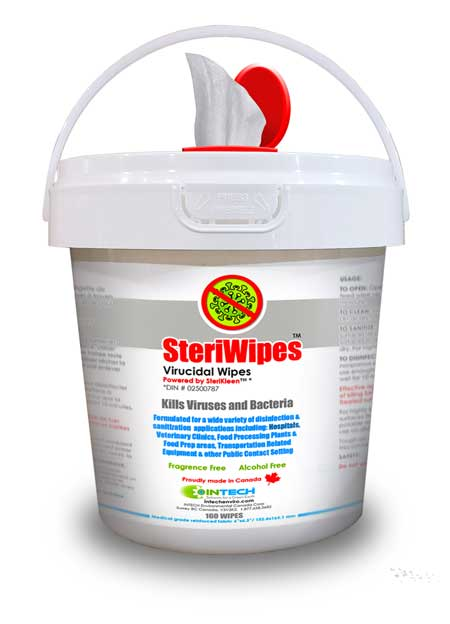 SteriWipes Virucidal Disinfectant Wipes 160 Count Bucket