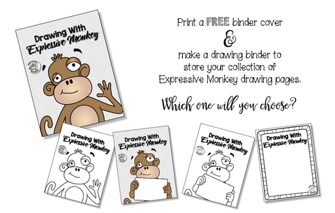 Pick a FREE binder cover to use on you drawing binder.