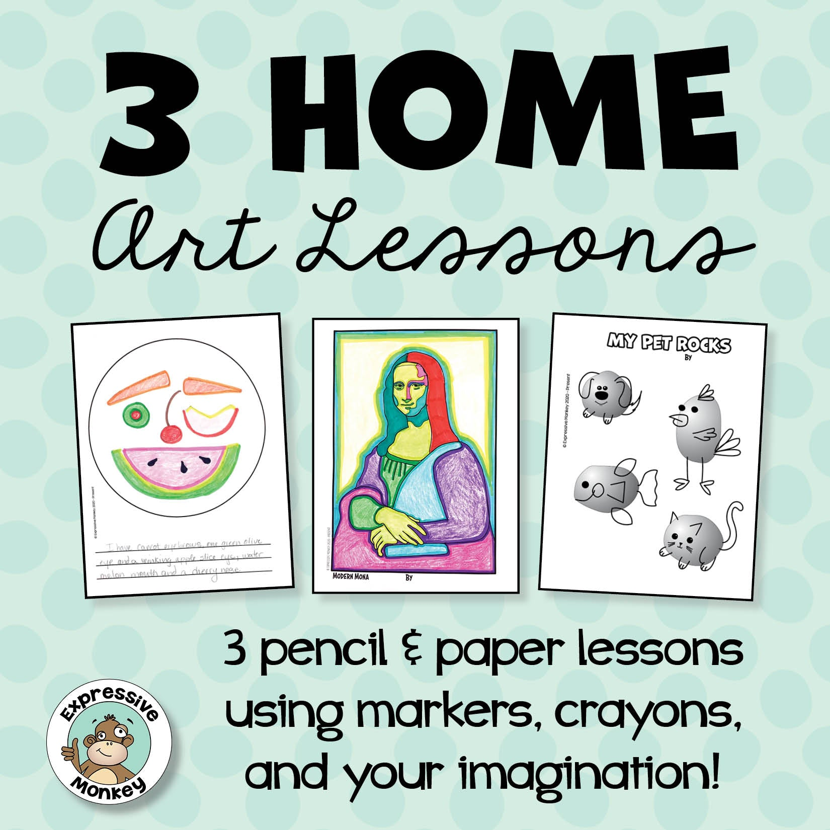 3 Free Home Art Lessons