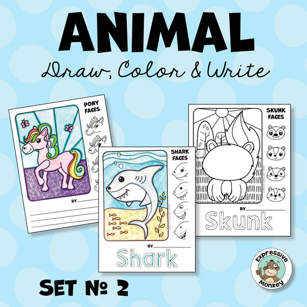 Animal Draw, Color & Write 2