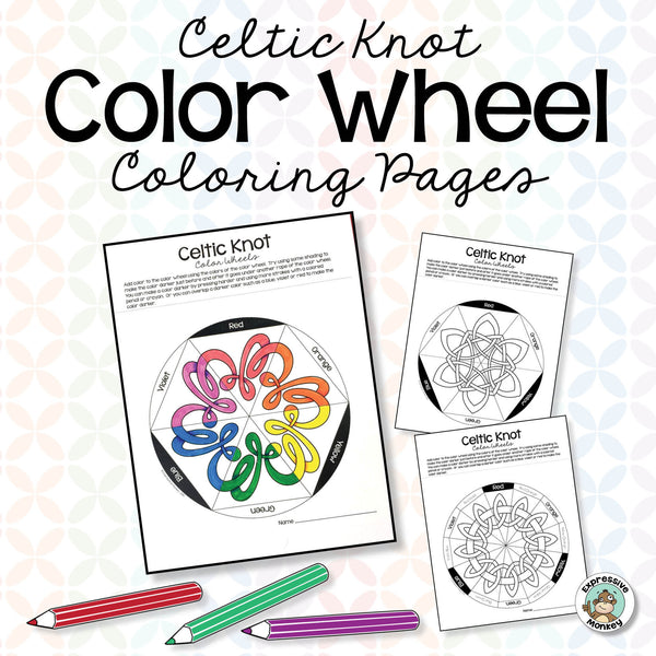 Celtic Knot Color Wheels for Coloring