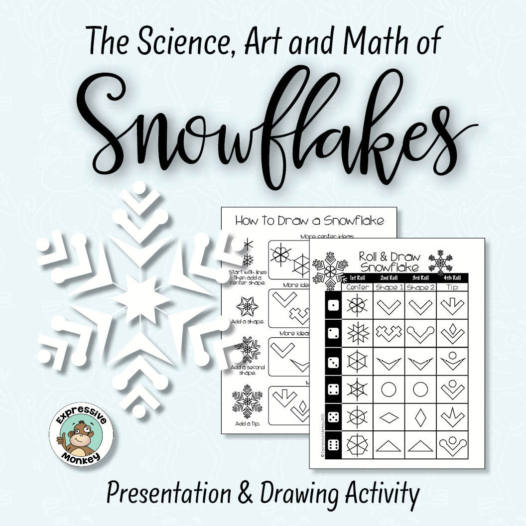 Drawing Snowflakes using the Science, Art and Math of Snow Crystals