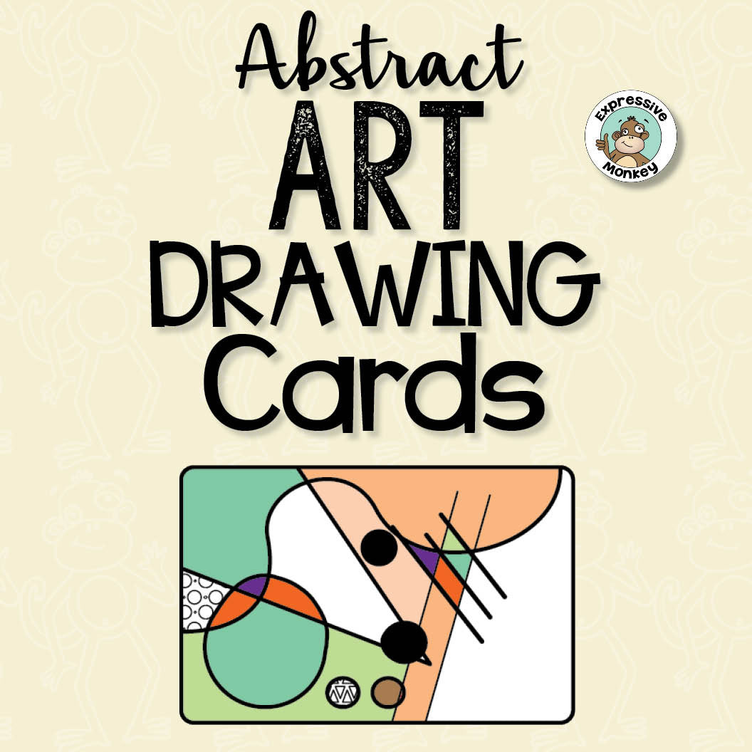 Abstract Art Drawing Cards