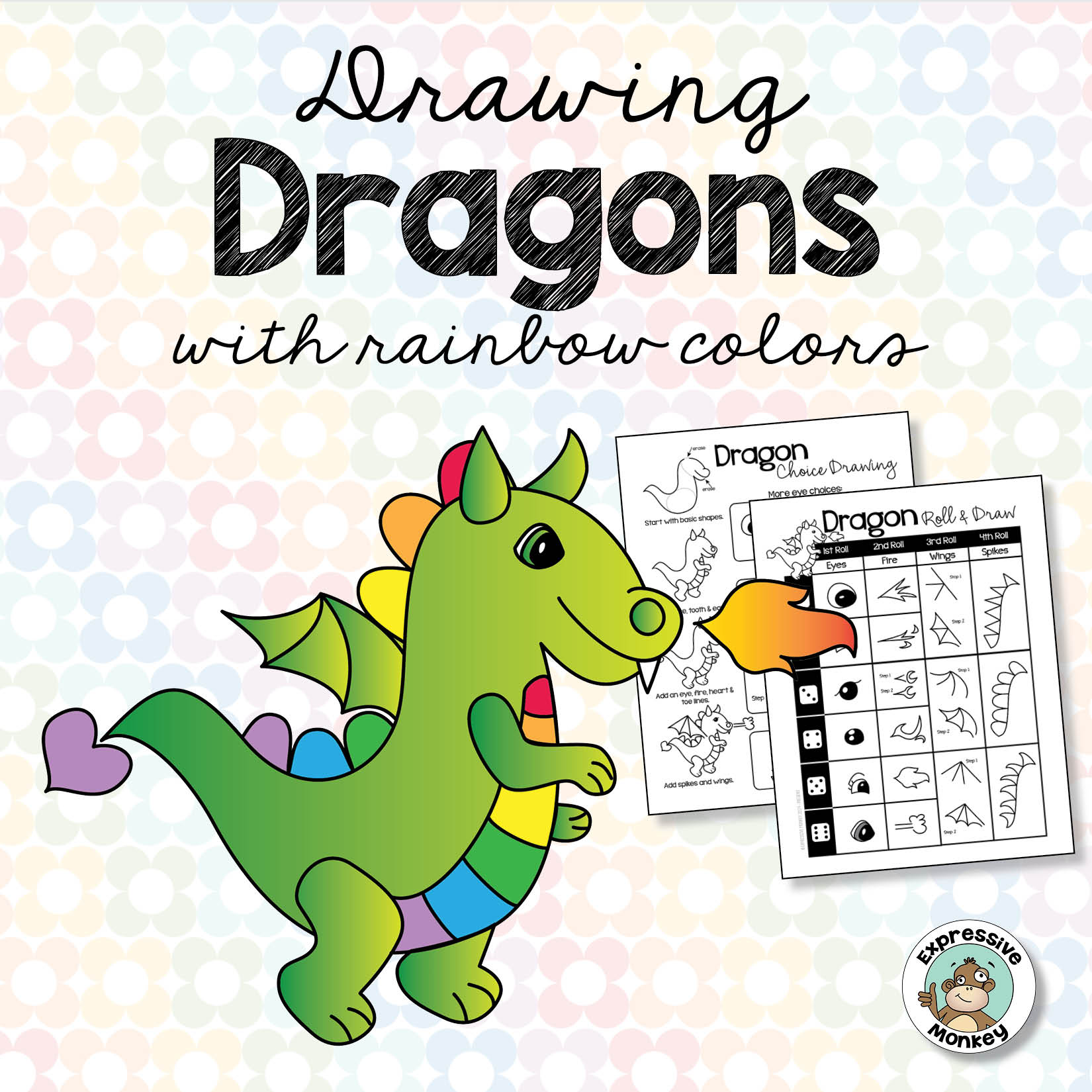 Drawing Dragons with Rainbow Colors