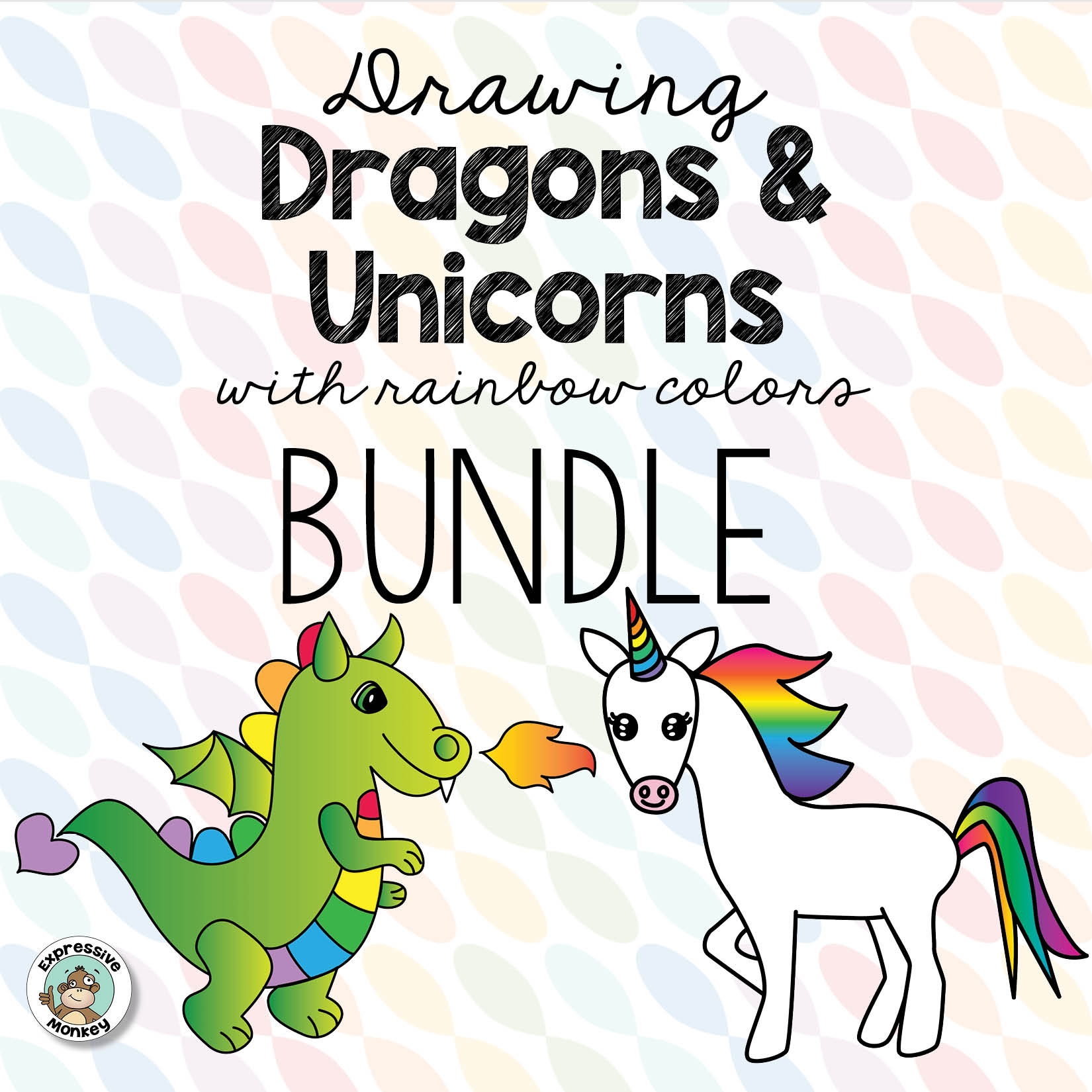 Dragon & Unicorn Drawing BUNDLE