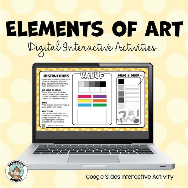 Elements of Art Interactive Activities - Google Slides